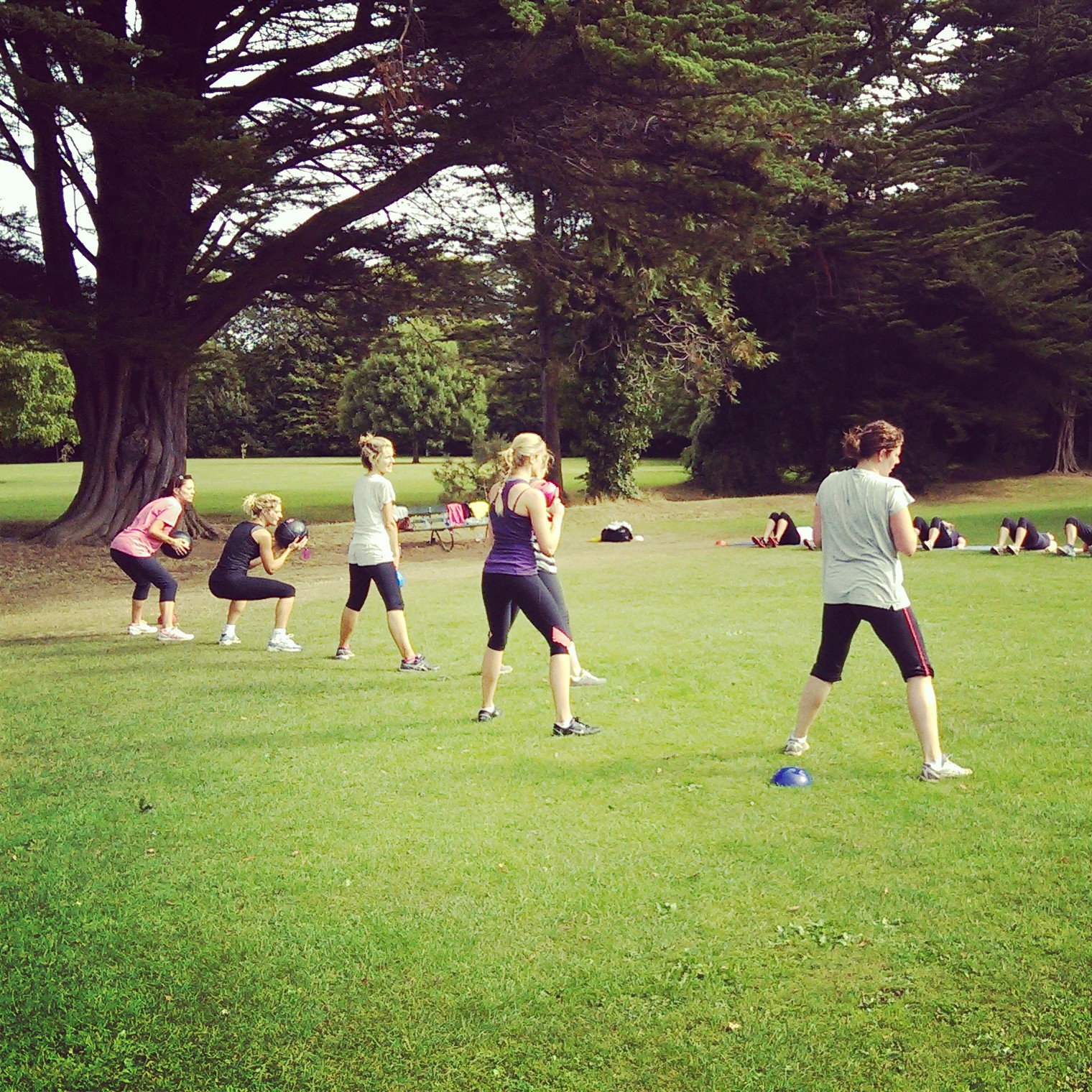 fitness training outdoors for women